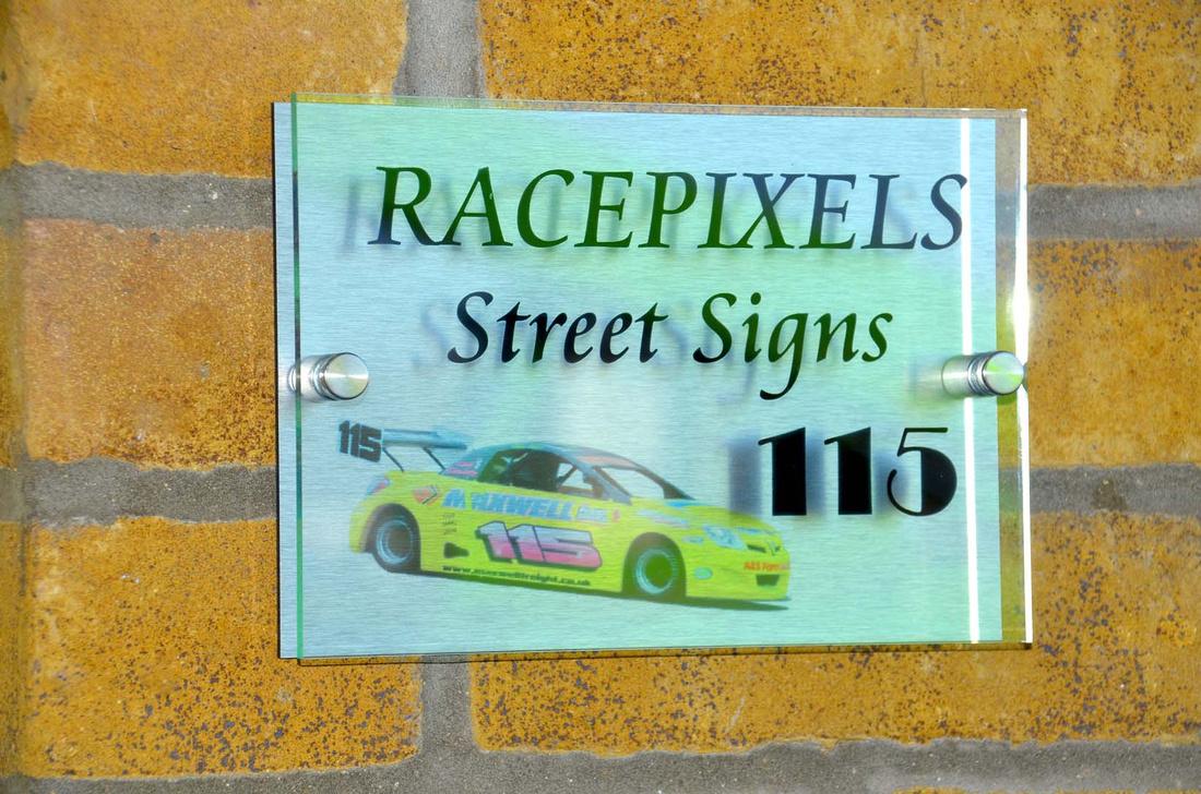 Motorsport street signs
